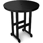 "POLYWOOD Round 36"" Counter Table - Black"
