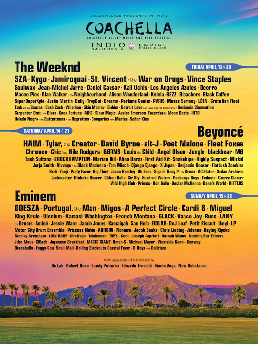 Here's the Complete Coachella 2018 Lineup
