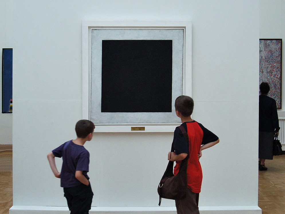 Photo 404 05 Staring At Malevich Black Square Painting In Russian