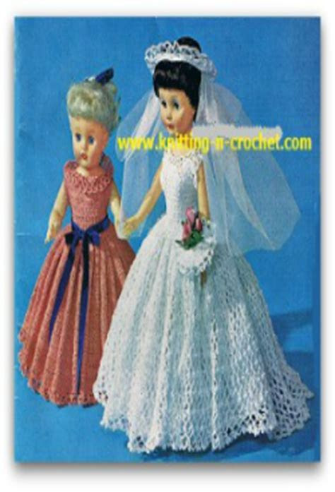 Free crochet wedding dress pattern for the fashion doll