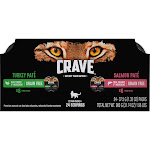 Crave Perfect Portions Cat Food, Pate, Turkey & Salmon, Twin Pack - 24 pack, 1.32 oz packs