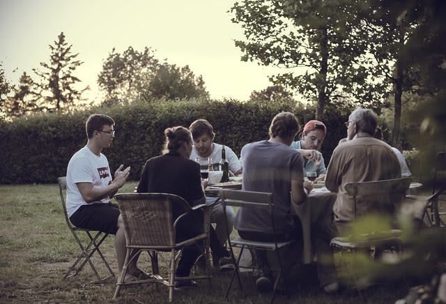 supper in the garden
