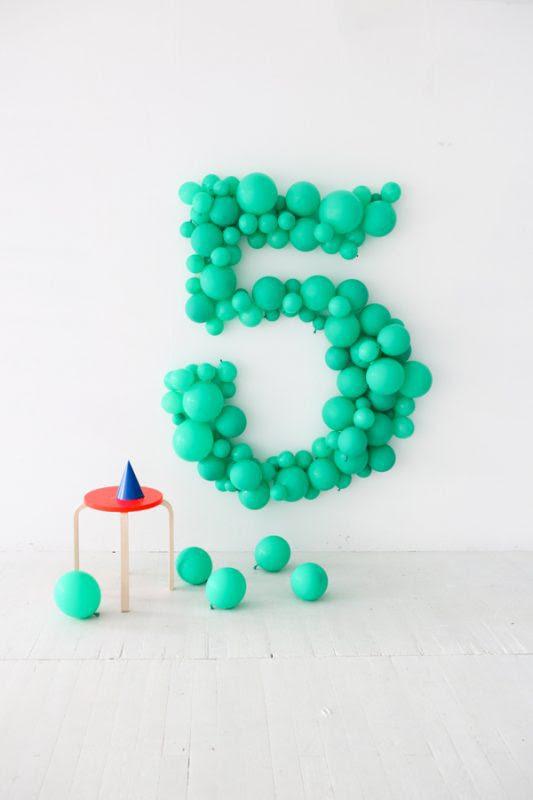 globos gigantes para poner la edad