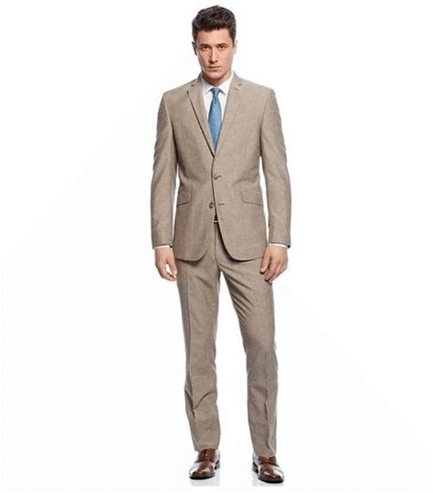 Wholesale Tan Suits Wedding Groom Tuxedos Two Piece Best