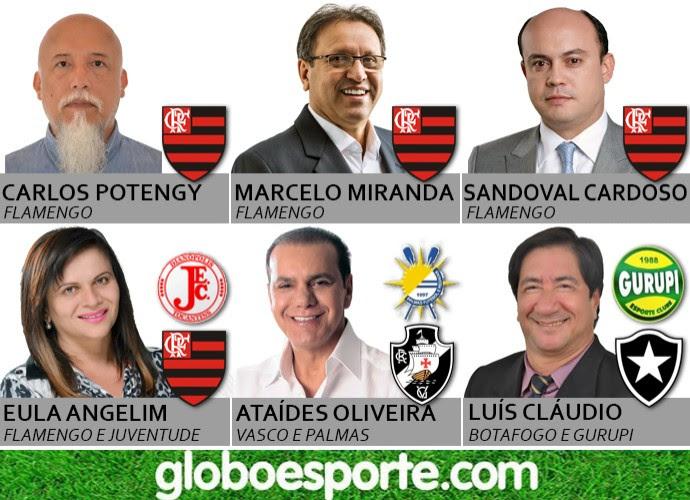 Times do coração dos candidatos ao governo do Tocantins (Foto: Arte/GloboEsporte.com Tocantins)