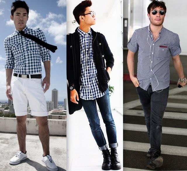 Resultado de imagem para roupas xadrez Vichy para homens