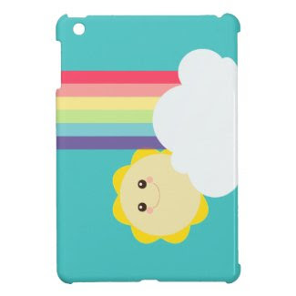 Kawaii Sun & Rainbow {Mini iPad Case} iPad Mini Case