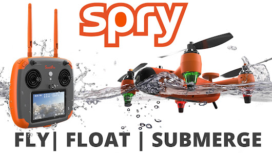 SPRY: A waterproof drone that submerges under water & flies