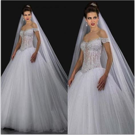 Sexy See Through 2015 Ball Gown Wedding Dresses With