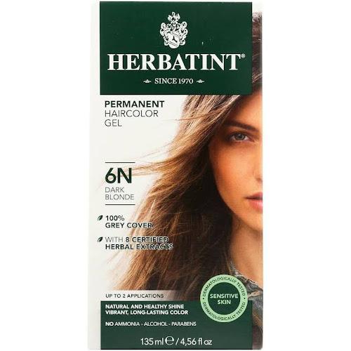 Herbatint Permanent Haircolor Gel, Dark Blonde 6N - 4.56 fl oz packet