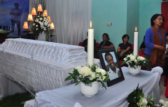 Burial Ceremony For Okwudili Oyatanze In Indonesia