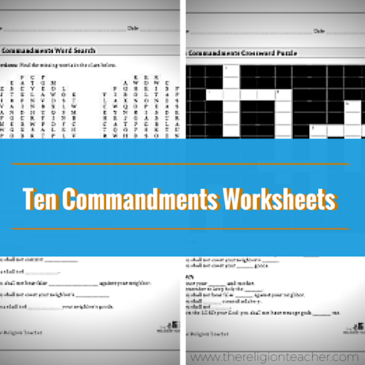 Ten Commandments Word Search And Crossword Puzzle | The Religion Teacher | Catholic Religious Education