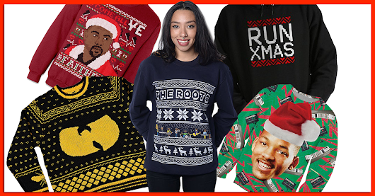12 Hip-Hop Themed Ugly Christmas Sweaters