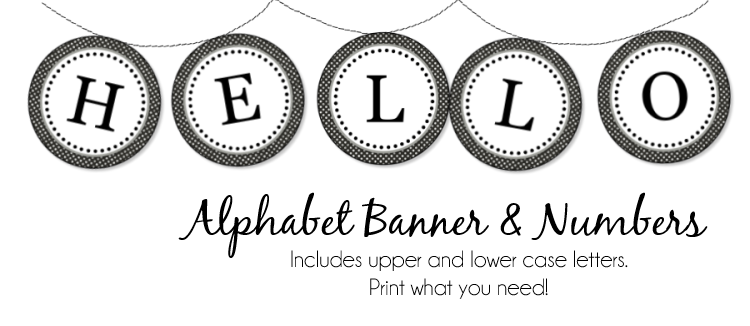 1000+ images about Printable Letters & Flag Banners on Pinterest ...
