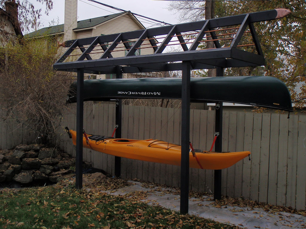 Chapter Outdoor Canoe Storage Rack Plans Mi Je