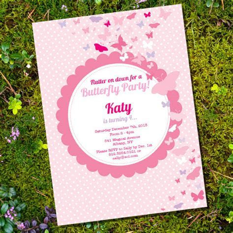 Butterfly Invitation Templates   10  Free PSD, Vector AI