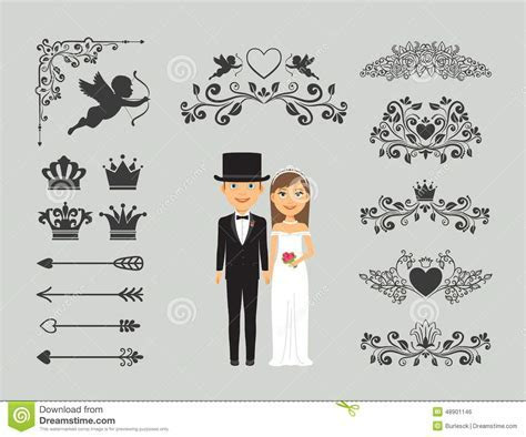Wedding Invitation Design Elements Stock Vector