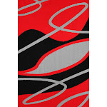 "Contemporary Hand Carved Red And Black Area Rug 7'6"" x 10'3"" / Red"