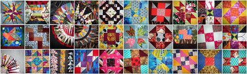 quilt block mosaic