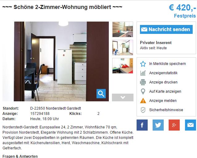 Zimmer Wohnung Norderstedt