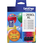 Brother LC 203CL XL Ink Cartridge, Cyan/Yellow/Magenta - 3-pack