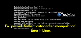 "How to Fix ""passwd: Authentication token manipulation error"" in Linux"