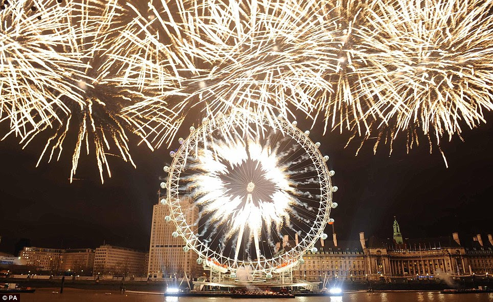 LONDON: The dazzling display lasted for around 15 minutes in the capital