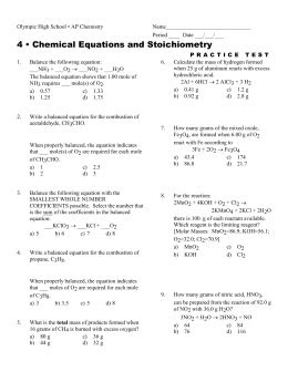 Specific Heat Practice (Thermochemistry Problems) DIRECTIONS