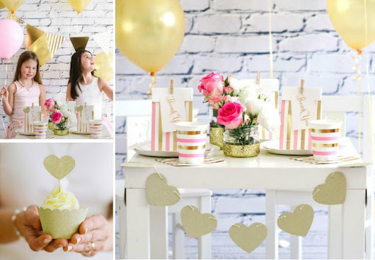 Get the look - Pink & Gold Sparkle Party