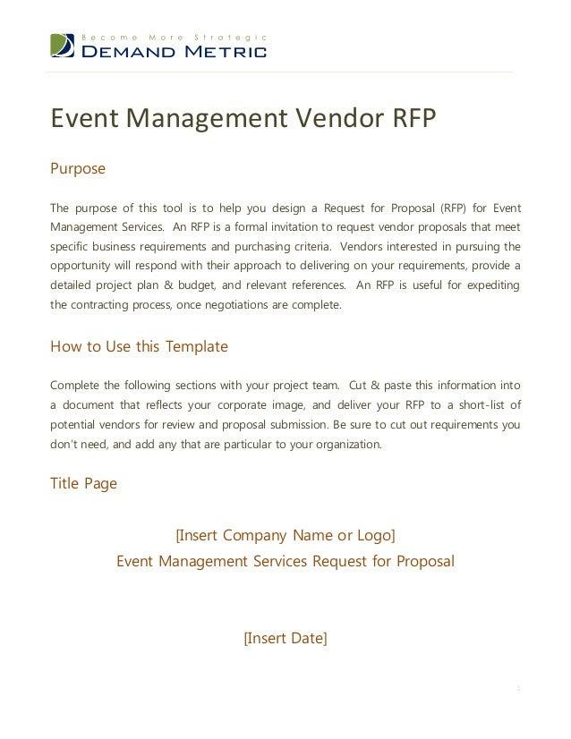 event management rfp template 1 638