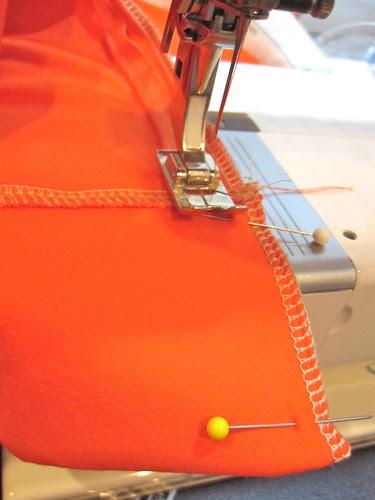 Stitch Edge Above Zipper