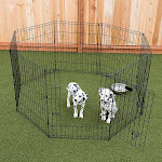 "Lucky Dog 36"" Dog Exercise Pen with Stakes"