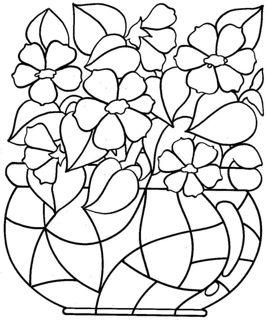 7600 Coloring Pages Flowers Free Printable For Free
