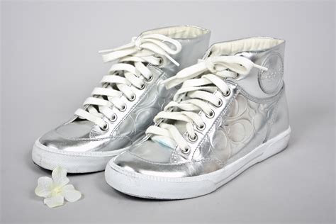 Silver High Top COACH sneakers on Storenvy