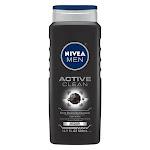 Nivea Men Deep Cleansing Charcoal Body Wash, Active Clean 16.9 oz