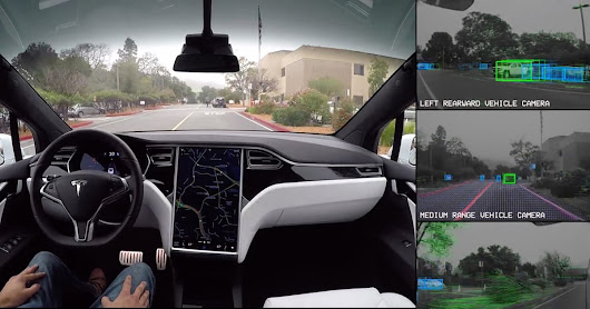 Tesla self-driving demo shows you what the car sees