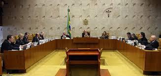 Imagem interna do plenário do STF, com a presença dos ministros em seção.
