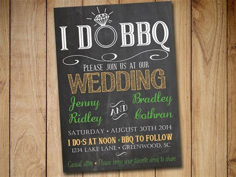 I DO BBQ Wedding Invitation Template by PaintTheDayDesigns