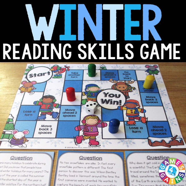 Winter Reading Prehension Board Game – Games 4 Gains