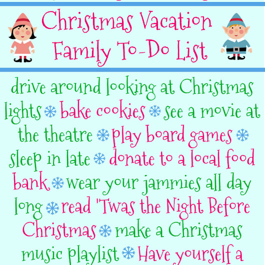 Fun and Simple Christmas Vacation To-Do List for Families