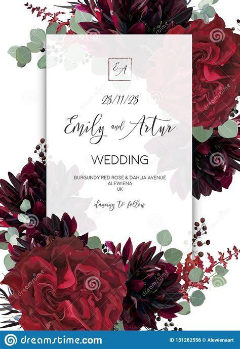 Wedding Invite, Invitation Save The Date Card Design. Red