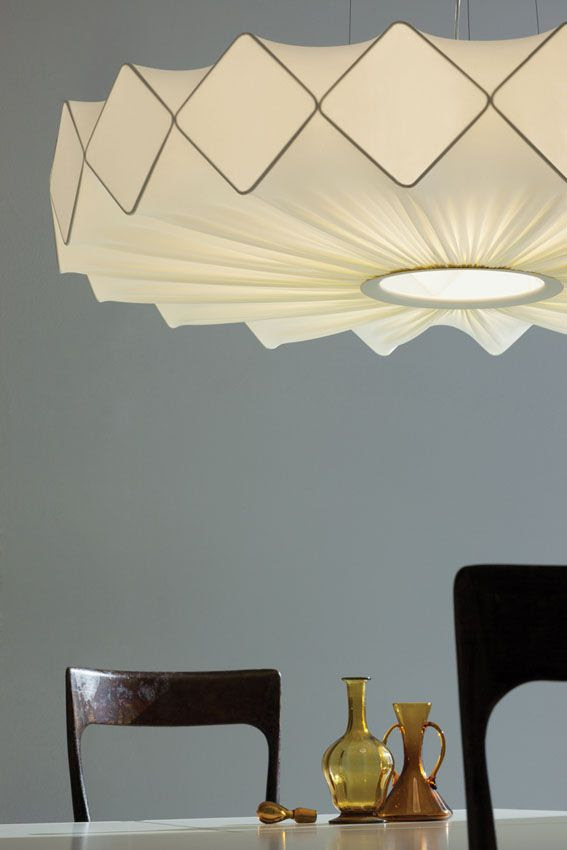 Fabric pendant #lamp GRESY by Lucente 2013