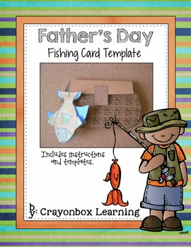 Father's Day Fishing Card Pattern