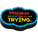 Dowling Magnets Do-735252bn Magnetic Whitboard Mistake Quote Eraser, Pack of 6,