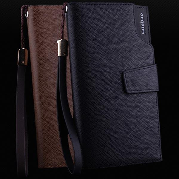Purse leather Wallet long Card Holder