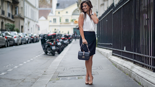 Petite in Paris · Layered Skirt and White Blouse • Petite in Paris