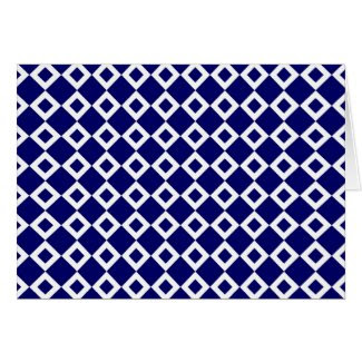 Navy and White Diamond Pattern Cards