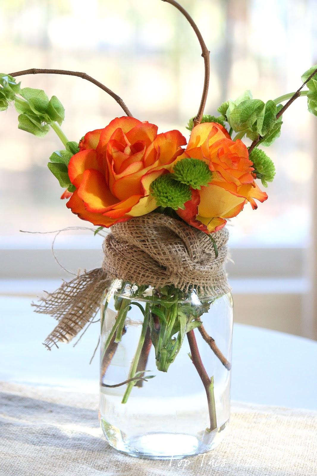 Fall Mason Jar Flower Arrangement Mason Jar Crafts Love
