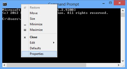 Enable Copy paste in CMD
