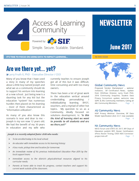 A4L Quarterly Newsletter, June 2017 - Access 4 Learning (A4L) Community